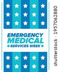 emergency medical services week ... | Shutterstock .eps vector #1957062880