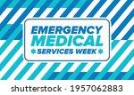 emergency medical services week ... | Shutterstock .eps vector #1957062883