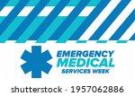 emergency medical services week ... | Shutterstock .eps vector #1957062886