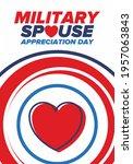 military spouse appreciation... | Shutterstock .eps vector #1957063843