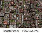 hipster african vector seamless ... | Shutterstock .eps vector #1957066393