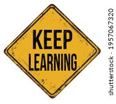 keep learning vintage rusty... | Shutterstock .eps vector #1957067320