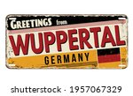 greetings from wuppertal... | Shutterstock .eps vector #1957067329