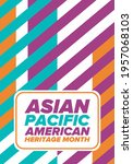asian pacific american heritage ... | Shutterstock .eps vector #1957068103