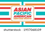 asian pacific american heritage ... | Shutterstock .eps vector #1957068109