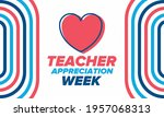 teacher appreciation week in... | Shutterstock .eps vector #1957068313