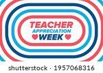 teacher appreciation week in... | Shutterstock .eps vector #1957068316