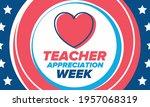 teacher appreciation week in... | Shutterstock .eps vector #1957068319