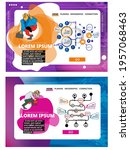 collection of infographics... | Shutterstock .eps vector #1957068463