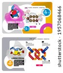 collection of infographics... | Shutterstock .eps vector #1957068466