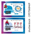 collection of infographics... | Shutterstock .eps vector #1957068469