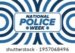 national police week in may.... | Shutterstock .eps vector #1957068496