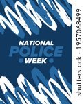 national police week in may.... | Shutterstock .eps vector #1957068499