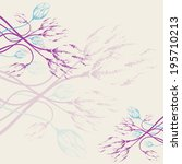 pastel floral frame. template...   Shutterstock .eps vector #195710213
