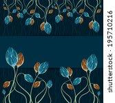 floral frame. template frame... | Shutterstock .eps vector #195710216