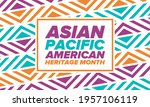 asian pacific american heritage ... | Shutterstock .eps vector #1957106119