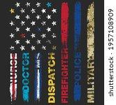 distressed first responder... | Shutterstock .eps vector #1957108909