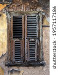Closed Wooden Window On The ...