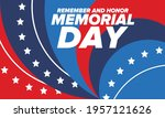 memorial day in united states.... | Shutterstock .eps vector #1957121626