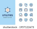utilities icon set with modern...   Shutterstock .eps vector #1957122673