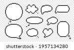 clouds conversation and speech... | Shutterstock .eps vector #1957134280