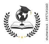 illustration of student hat... | Shutterstock .eps vector #1957141660