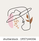 modern linear abstract portrait ... | Shutterstock .eps vector #1957144336