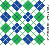 Argyle Pattern In Blue And...