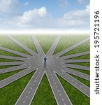 direction choices and career... | Shutterstock . vector #195721196