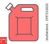 jerrycan color line icon  fuel... | Shutterstock .eps vector #1957212610