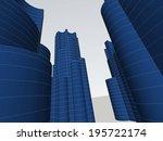 abstract buildings   Shutterstock . vector #195722174