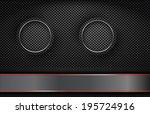 the rings on metallic dark... | Shutterstock .eps vector #195724916