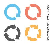 four colorful reload icons | Shutterstock .eps vector #195726209