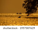 Silhouette Of Fishing Boat In...