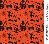 halloween set collection... | Shutterstock .eps vector #1957324633