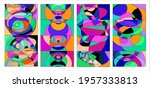 vector colorful abstract fluid... | Shutterstock .eps vector #1957333813
