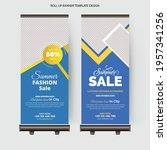 fashion sale roll up banner ...   Shutterstock .eps vector #1957341256