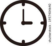 black single round time clock...