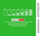 vector battery symbol set...