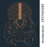 vector abstract illustration of ... | Shutterstock .eps vector #1957454389