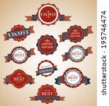 vintage labels set | Shutterstock .eps vector #195746474