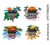 summer party people and... | Shutterstock .eps vector #195748604