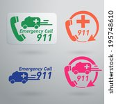 vector emergency service icons   Shutterstock .eps vector #195748610