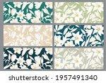 set of vector backgrounds with...   Shutterstock .eps vector #1957491340