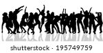 vector silhouette of people who ... | Shutterstock .eps vector #195749759