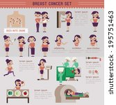 breast cancer set and info... | Shutterstock .eps vector #195751463