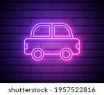 car pink glowing neon ui ux...