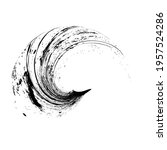 curved brush stroke . vector...   Shutterstock .eps vector #1957524286