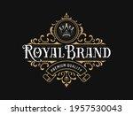 vintage luxury ornamental logo... | Shutterstock .eps vector #1957530043