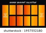 orange gradients swatches set...